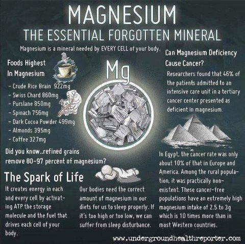Calcium is regulated and controlled by magnesium.
