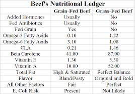 beef nutrition grass grain